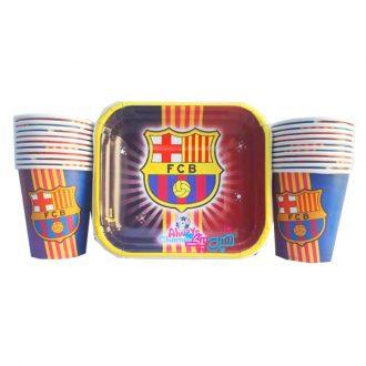 بشقاب و لیوان تم تولد بارسلونا