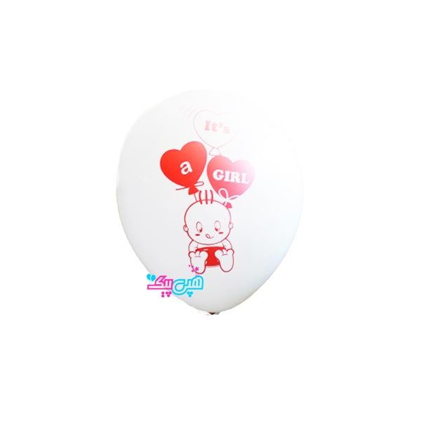 red baby latex balloon-