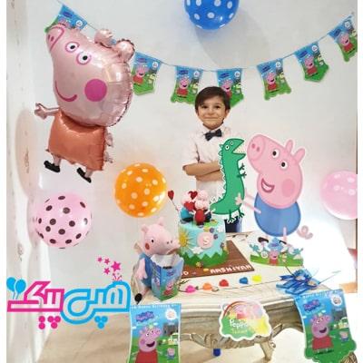 خرید تم تولد پپاپیگ در هپی پیک-