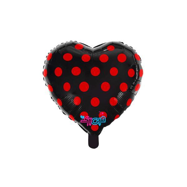 فویلی قلب مشکی خال قرمز