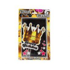 شمع تولد تاج طلایی