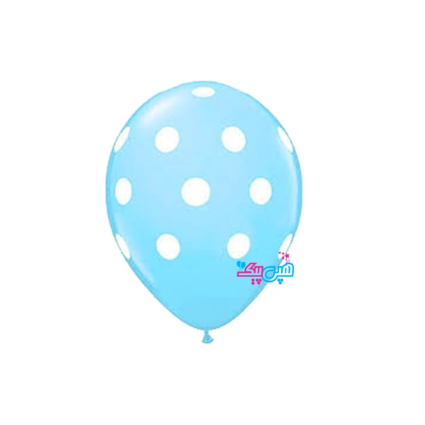 blue spotty white balloon-min