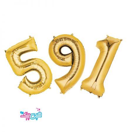 بادکنک عدد طلایی (32 اینچ)