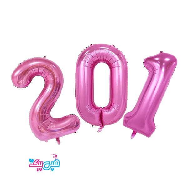 pink number foil balloon-