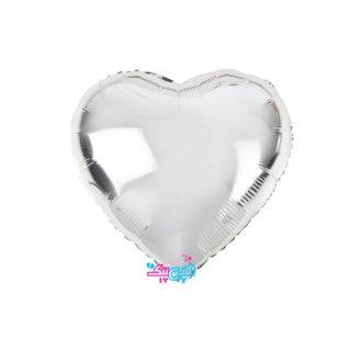 فویلی قلب بزرگ نقره ای