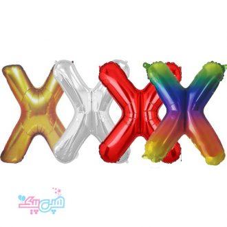 بادکنک فویلی حرف X