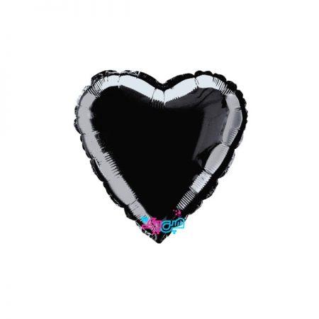 بادکنک فویلی قلب مشکی (18اینچ)