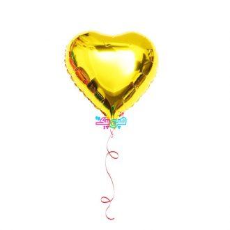 بادکنک هلیومی قلب طلایی فویلی