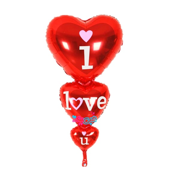 ۳ heart foil balloon-