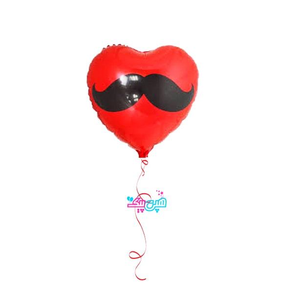 Mustache heart heluim balooon-