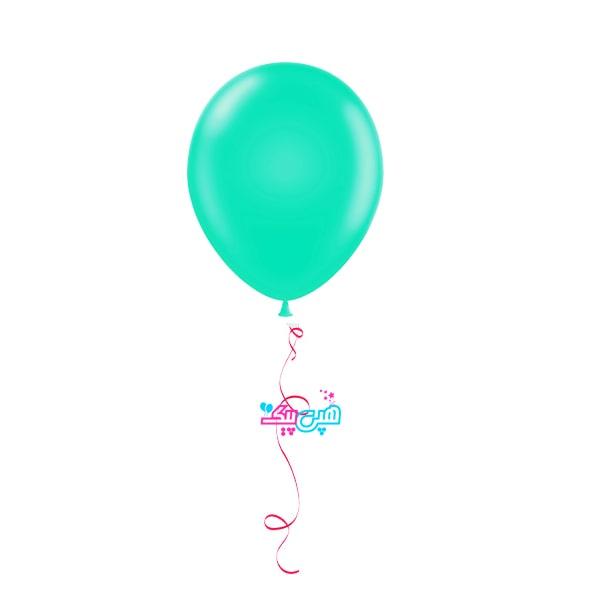bliuegreen helium balloon-