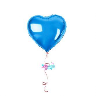 بادکنک هلیومی قلب آبی فویلی