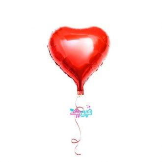 بادکنک هلیومی قلب قرمز فویلی