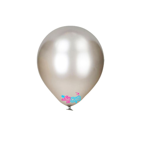 silver latex balloon-