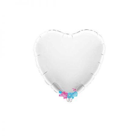 بادکنک فویلی قلب سفید
