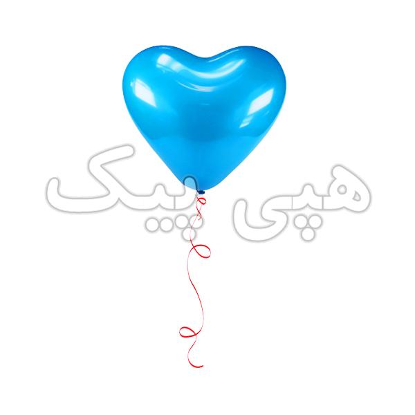 بادکنک هلیومی قلب آبی
