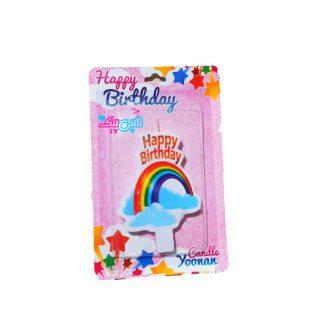 شمع تولد تم رنگین کمان