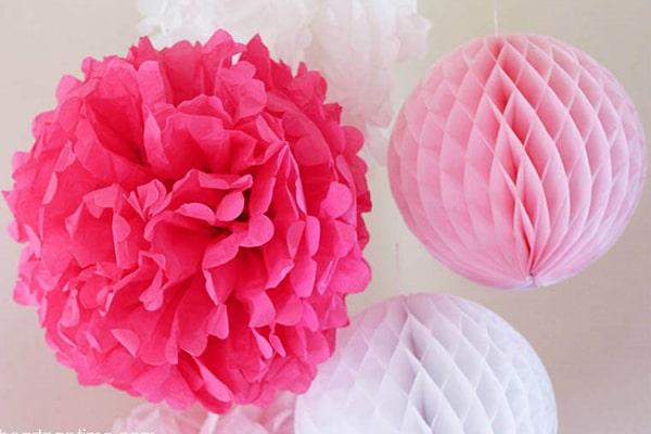 ساخت-گل-های-کاغذی-در-لوازم-تولد-کودک