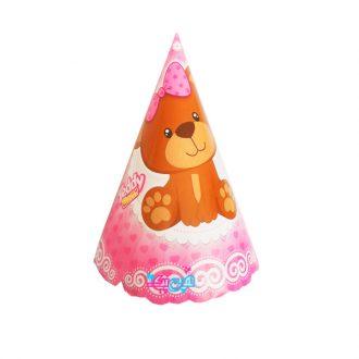 کلاه تم تولد تدی دخترانه