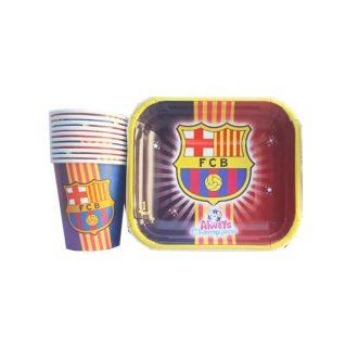 پیش دستی و لیوان ۱۰ تایی بارسلونا