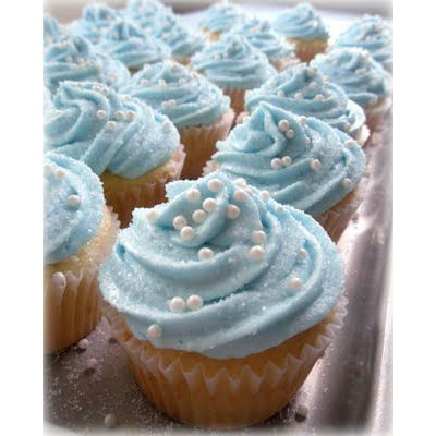 کاپ کیک های تم آبی سیندرلا-