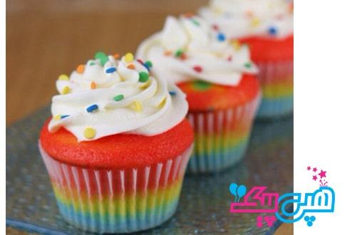 کاپ-کیک-های-رنگی-