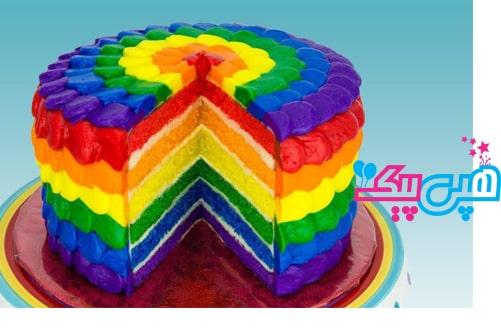 کیک-تم-رنگین-کمان