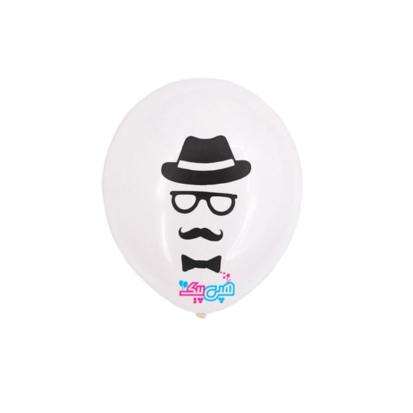 Mustache-hat-white-latex-balloon-