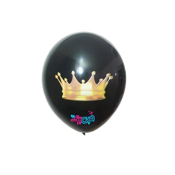 black-crown-latex-balloon-
