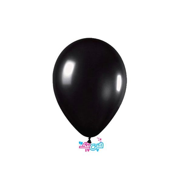 black latex balloon-