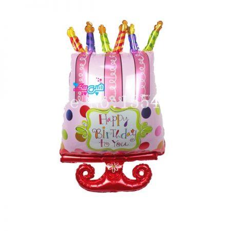 بادکنک کیک 6 شمع