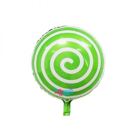 بادکنک آبنباتی مارپیچ سبز
