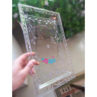 سینی شیشه ای گلبرگ دار کوچک