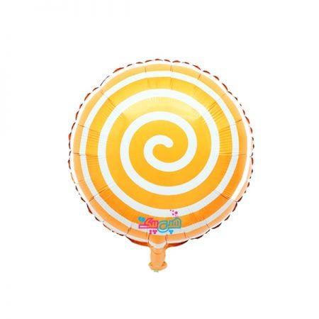 بادکنک آبنباتی مارپیچ نارنجی