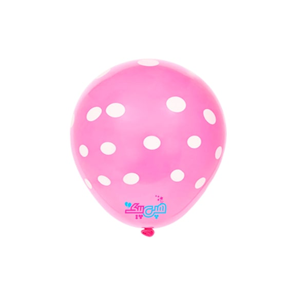 pink-spotty-white-latex-balloon-