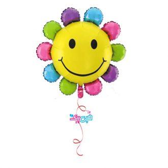 بادکنک هلیومی گل خندان رنگارنگ