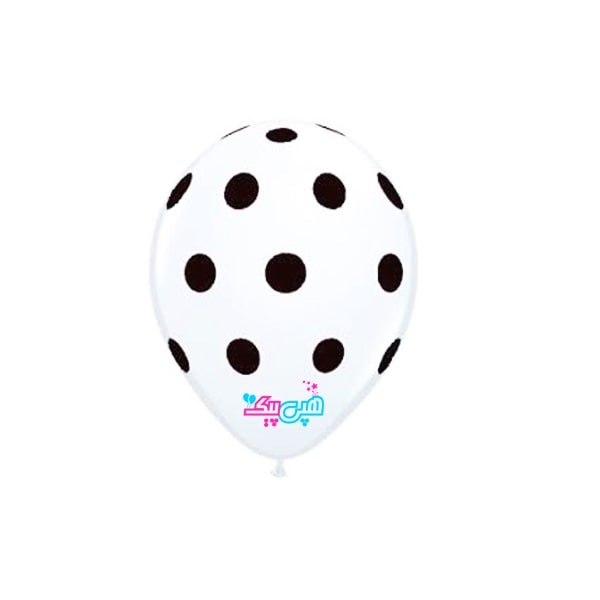 white-spotty-black-latex-balloon-