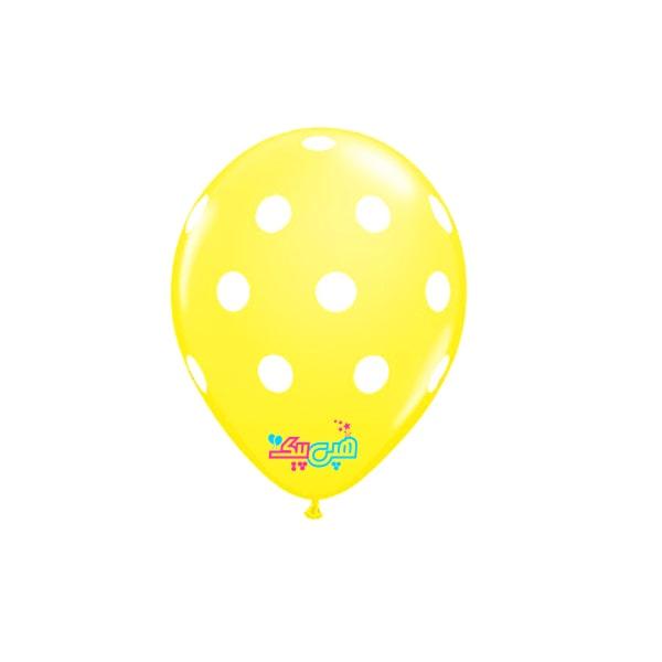 yellow-spooty-white-latex-balloon-