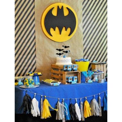 تزیین جشن تم تولد پسرانه بتمن-