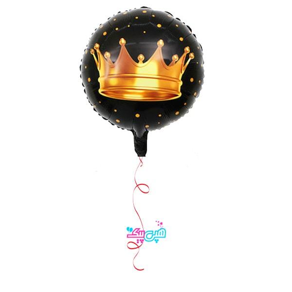 crown black round helium ballon-min