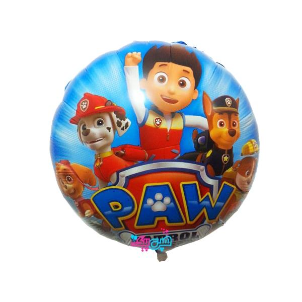 paw patrol foil round balloon-min