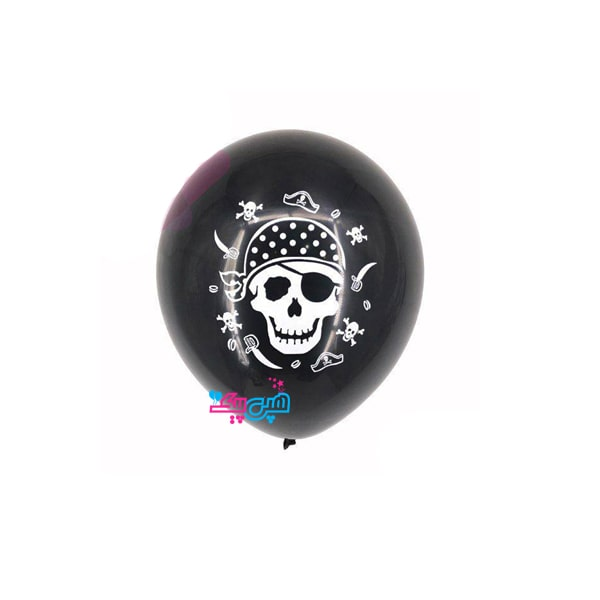 pirate black latex balloon-