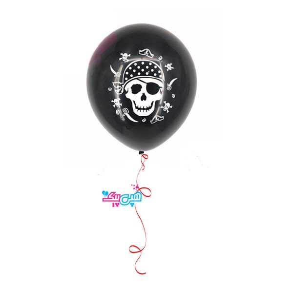 pirate black latex helium balloon–