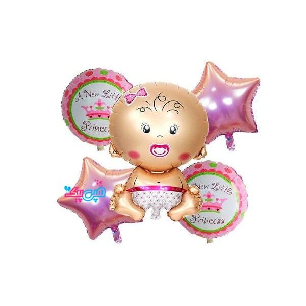 ۵ pieces balloon baby girl-