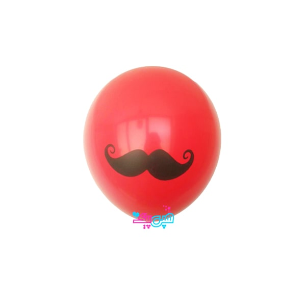 Mustache red latex balloon-