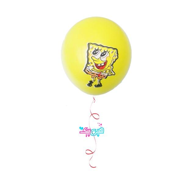 sponge bob latex helium balloon-