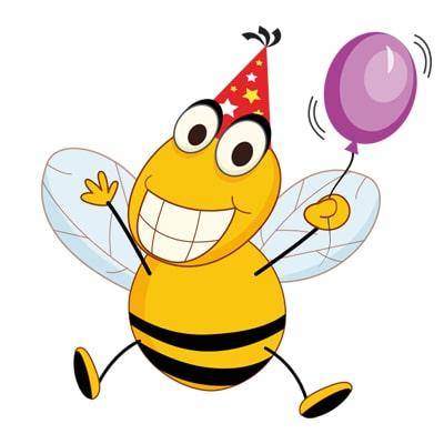 تم زنبوری برای جشنی زرد و مشکی