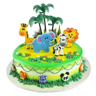 کیک تم حیوانات جنگل