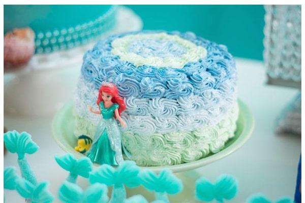 کیک تولد پری دریایی-