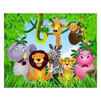 تزیین تولد با تم حیوانات جنگل